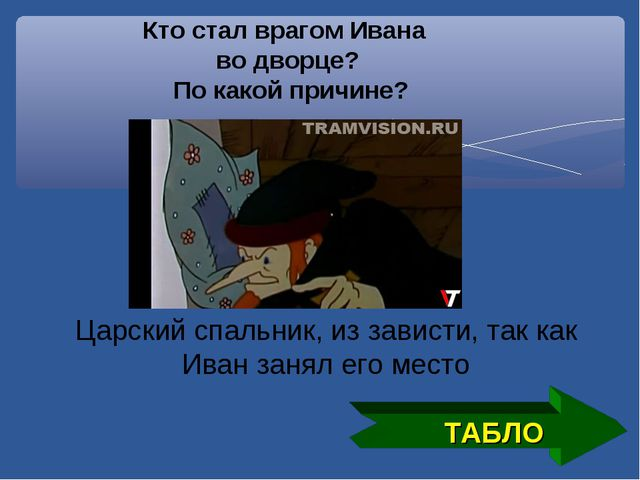ТАБЛО Кто стал врагом Ивана во дворце? По какой причине? Царский спальник, из...