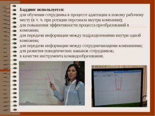 Баддинг используется: для обучения сотрудника в процессе адаптации к новому р