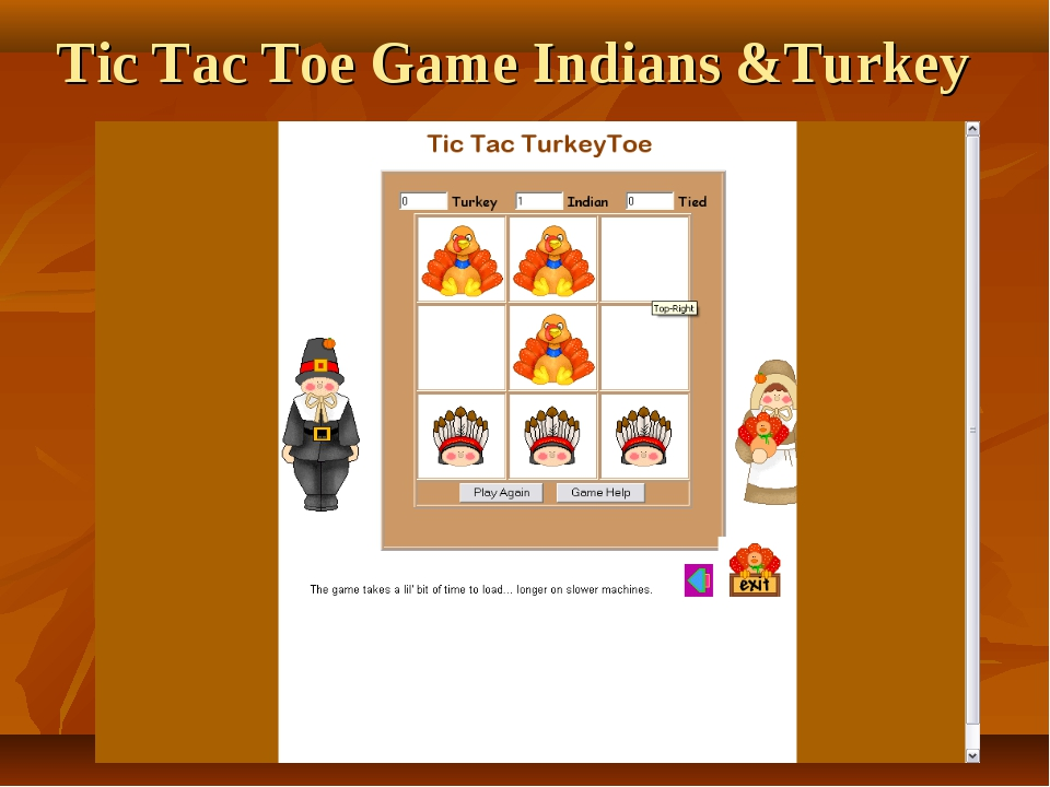 Tic Tac Toe Game Indians &Turkey