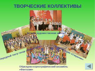 ТВОРЧЕСКИЕ КОЛЛЕКТИВЫ Народный театр танца «Жемчужина» Детская художественная