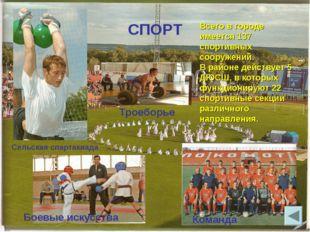 СПОРТ Команда Сельская спартакиада Троеборье Всего в городе имеется 137 спорт