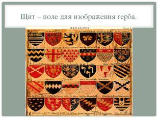 Щит – поле для изображения герба.