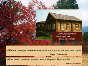 «Общая трагедия семьи неизмеримо превзошла все мои опасения» Борис Пастернак