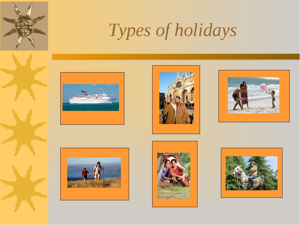 Types of holidays