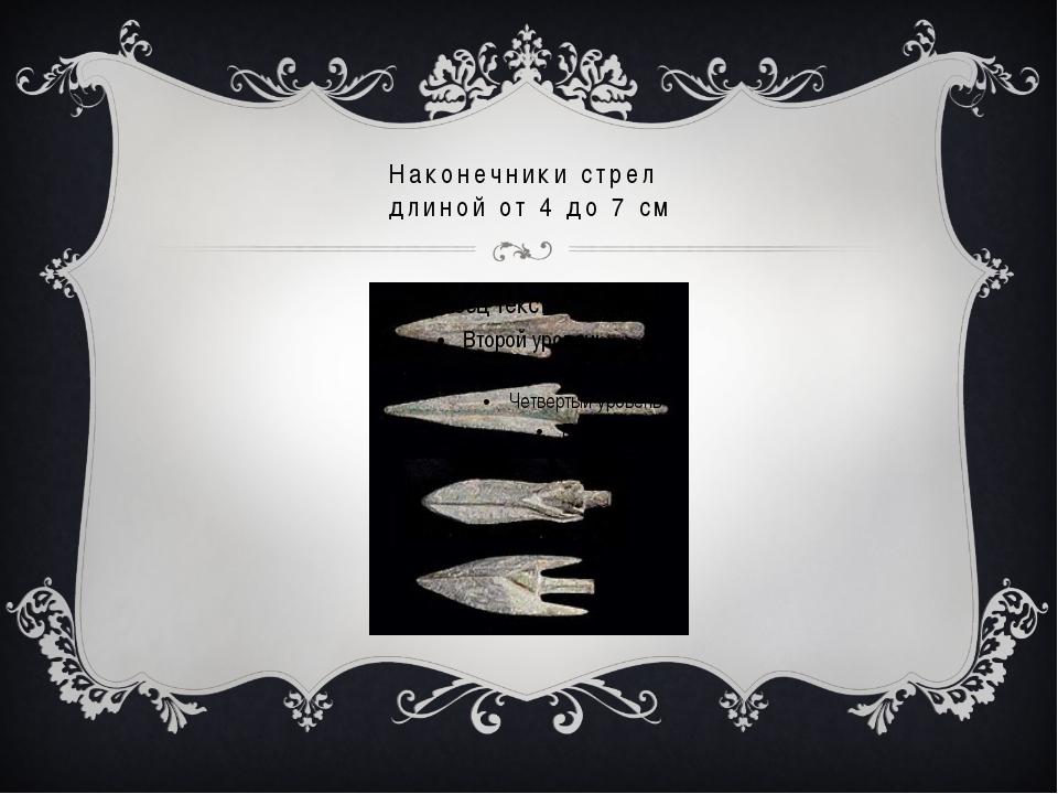 Наконечники стрел длиной от 4 до 7 см