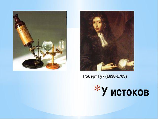 У истоков Роберт Гук (1635-1703) У истоков микроскопических исследований. Роб...