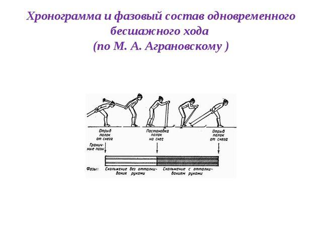 Хронограмма и фазовый состав одновременного бесшажного хода (по М. А. Агранов...
