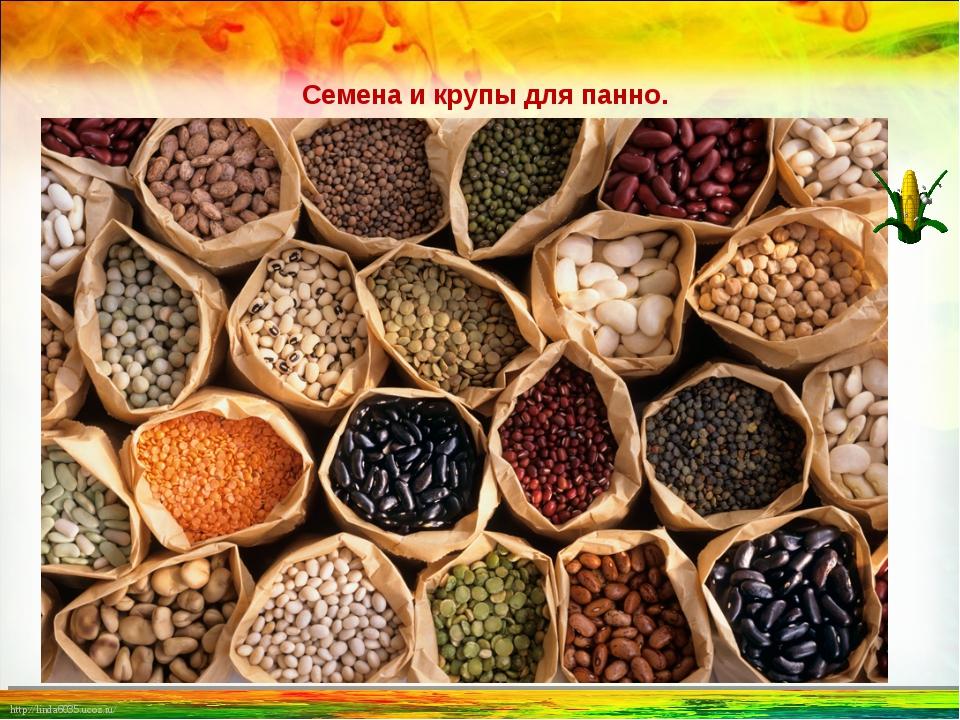 Семена и крупы для панно. http://linda6035.ucoz.ru/