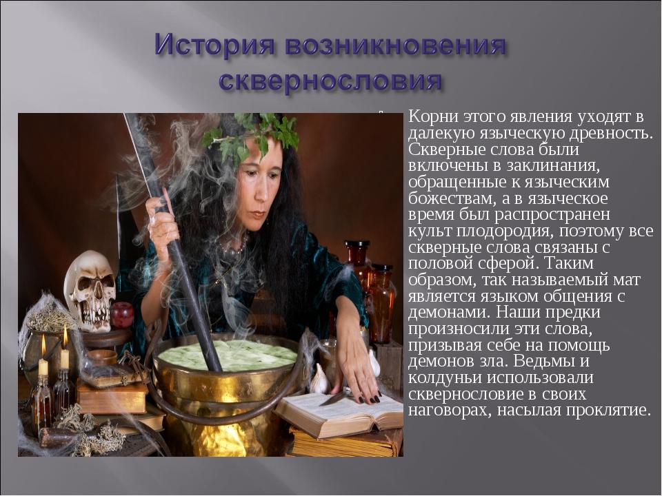 Корни этого явления уходят в далекую языческую древность. Скверные слова был...