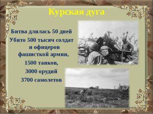 Курская дуга Битва длилась 50 дней Убито 500 тысяч солдат и офицеров фашистко