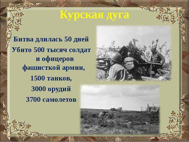 Курская дуга Битва длилась 50 дней Убито 500 тысяч солдат и офицеров фашистко...