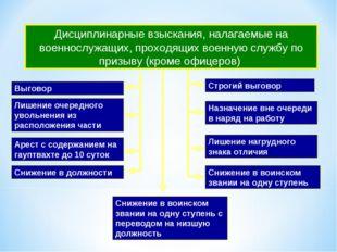 Дисциплинарные взыскания, налагаемые на военнослужащих, проходящих военную сл