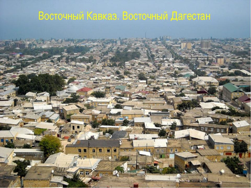 Восточный Кавказ. Восточный Дагестан
