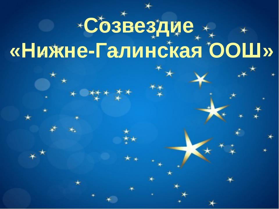 Созвездие «Нижне-Галинская ООШ»