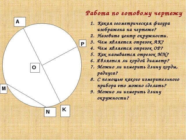 О Р M N A K Работа по готовому чертежу Какая геометрическая фигура изображена...