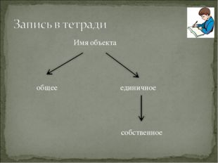 Имя объекта общее единичное собственное