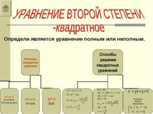 Определи является уравнение полным или неполным.