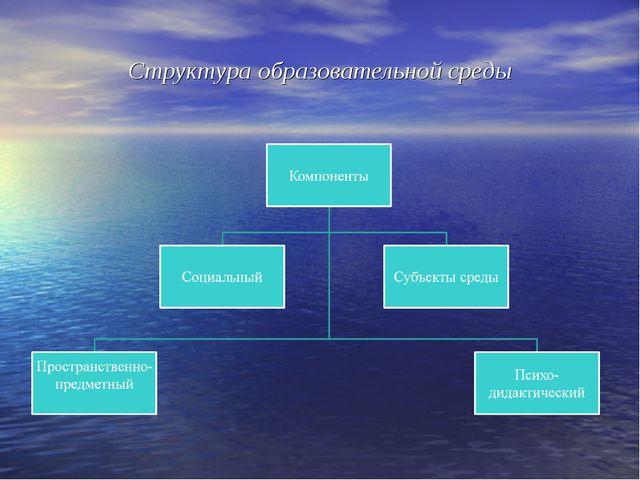 Структура образовательной среды