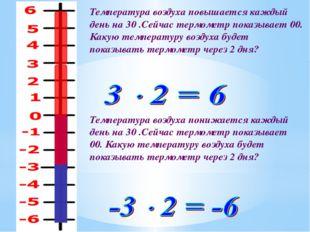 Температура воздуха повышается каждый день на 30 .Сейчас термометр показывает