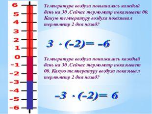 Температура воздуха повышалась каждый день на 30 .Сейчас термометр показывает