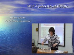МОУ«Привокзальная СОШ» Учитель физики Журба Галина Николаевна