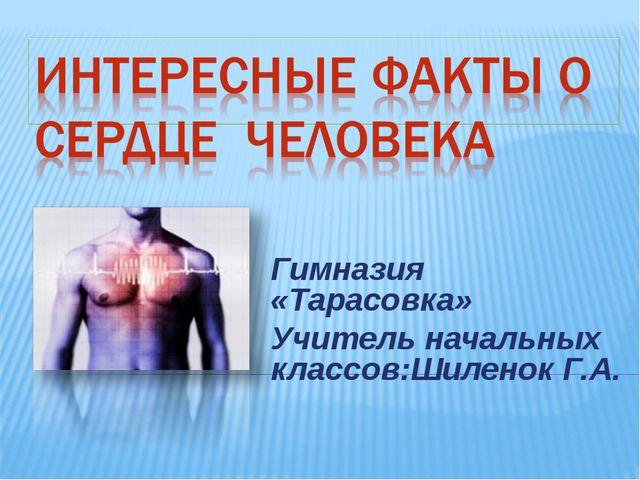 Гимназия «Тарасовка» Учитель начальных классов:Шиленок Г.А.