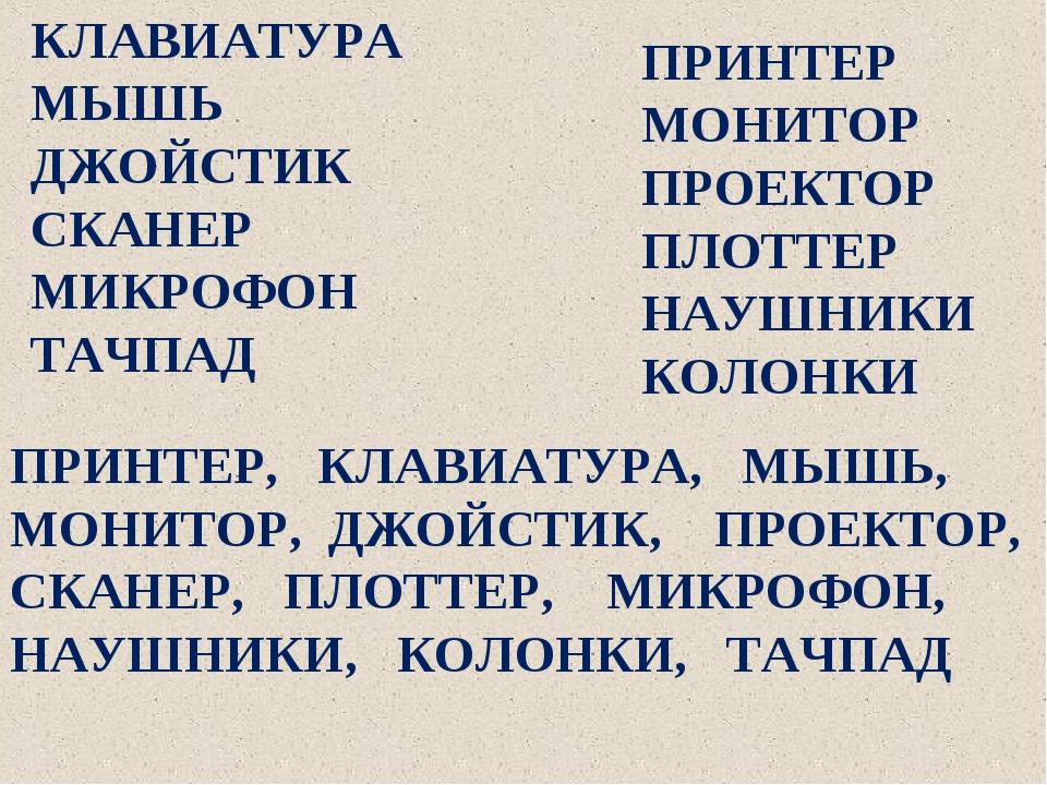 ПРИНТЕР МОНИТОР ПРОЕКТОР ПЛОТТЕР НАУШНИКИ КОЛОНКИ КЛАВИАТУРА МЫШЬ ДЖОЙСТИК СК...