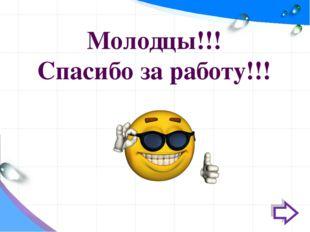 Молодцы!!! Спасибо за работу!!!