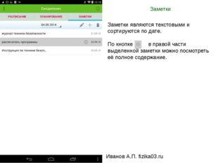 Заметки Иванов А.П. fizika03.ru Заметки являются текстовыми и сортируются по