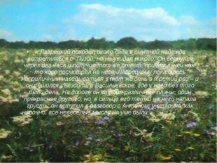 « Лаврецкий походил около сада в смутной надежде встретиться с Лизой, но не у