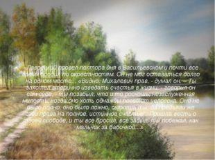«Лаврецкий провел полтора дня в Васильевском и почти все время бродил по окре