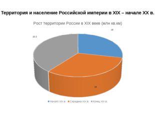 Территория и население Российской империи в XIX – начале ХХ в.