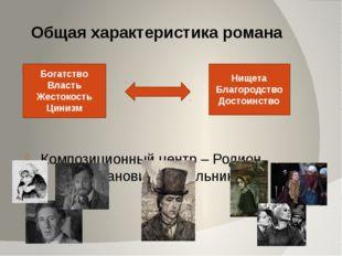 Композиционный центр – Родион Романович Раскольников Общая характеристика ро