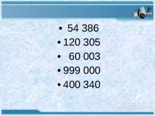 54 386 120 305 60 003 999 000 400 340