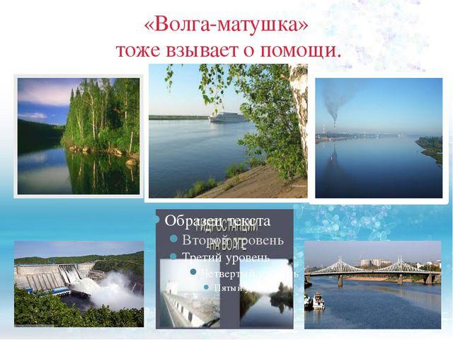 «Волга-матушка» тоже взывает о помощи.