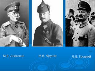 М.В. Алексеев М.В. Фрунзе Л.Д. Троцкий