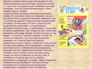 Журнал «Миша». Журнал познавательно развлекательный. В нем много материала, к