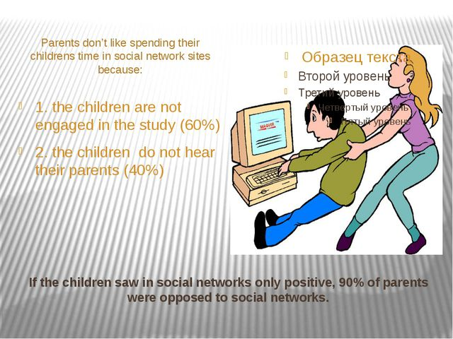If the children saw in social networks only positive, 90% of parents were opp...