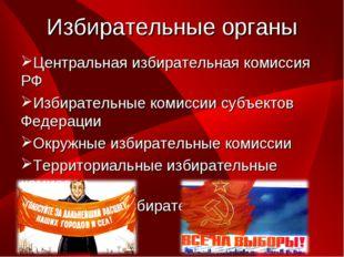 Избирательные органы Центральная избирательная комиссия РФ Избирательные коми