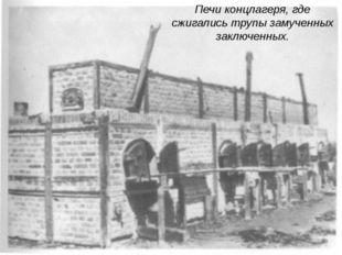 Печи концлагеря, где сжигались трупы замученных заключенных.