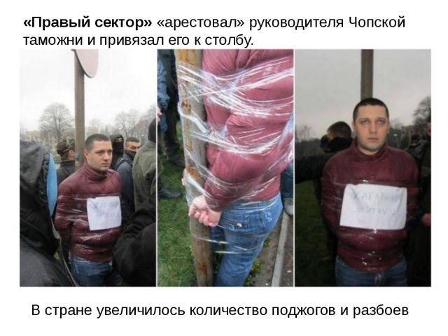 «Правый сектор» «арестовал» руководителя Чопской таможни и привязал его к сто...