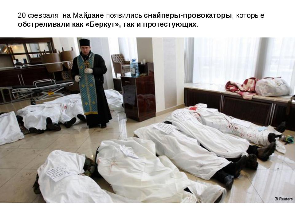 20 февраля на Майдане появились снайперы-провокаторы, которые обстреливали ка...