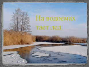 На водоемах тает лед