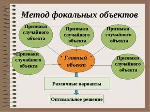 Метод фокальных объектов Главный объект Признаки случайного объекта Признаки
