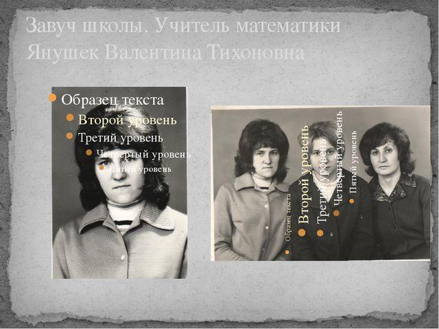 Завуч школы. Учитель математики Янушек Валентина Тихоновна