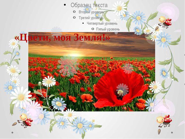 «Цвети, моя Земля!»