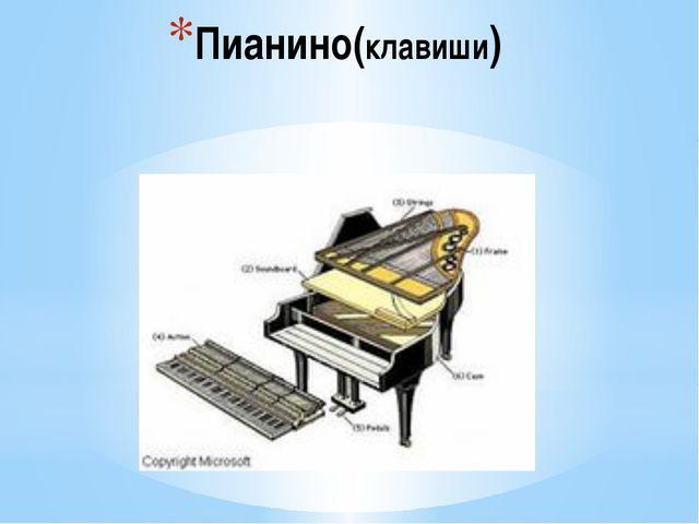 Пианино(клавиши)