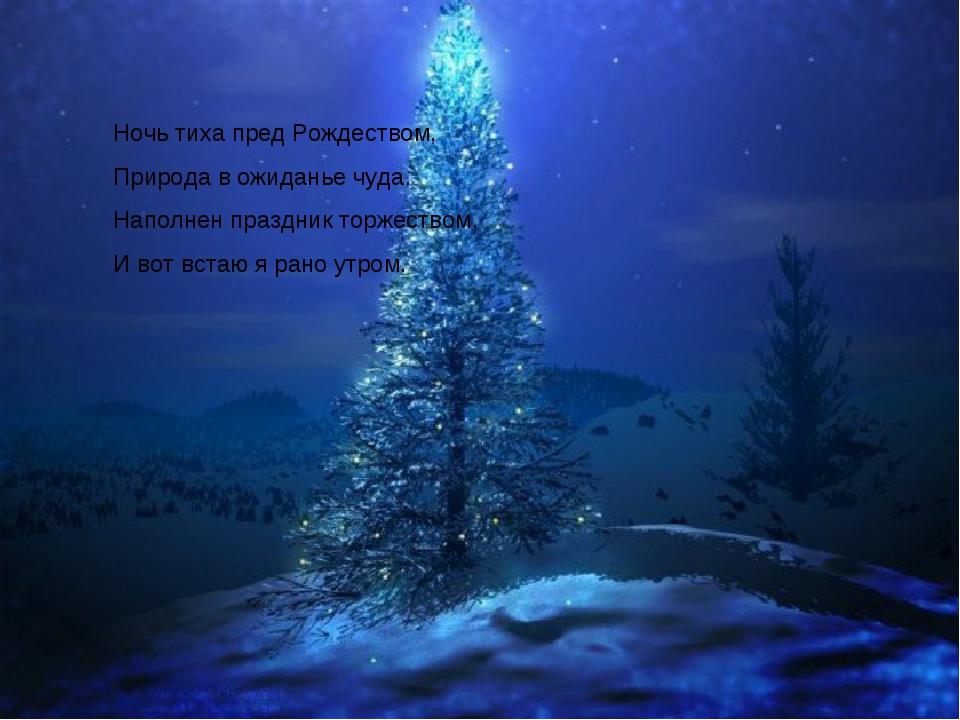 Ночь тиха пред Рождеством, Природа в ожиданье чуда. Наполнен праздник торжест...