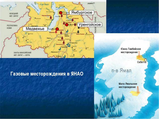 Газовые месторождения в ЯНАО