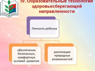 IV. Образовательные технологии здоровьесберегающей направленности